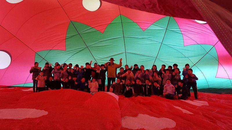 2/15 栃木市立南小学校で熱気球教室を開催しました。